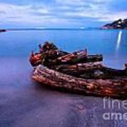 Sant'andrea At Night - Elba Island. Poster
