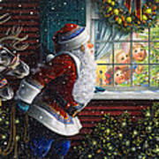 Santa's At The Window Poster