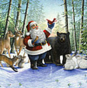 Santa's Christmas Morning Poster
