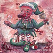 Santa's Littlest Elf Hog Poster