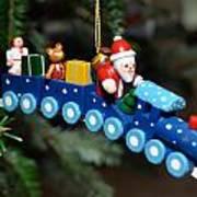 Santa's Train Delivery Poster