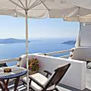 Santorini Balcony  Poster