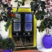 Santorini Doorway 2 Poster