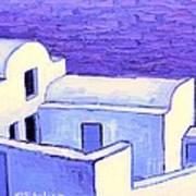 Santorini Houses Poster