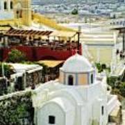 Santorini Overlook Poster