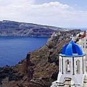 Santorini Panorama 2 Poster