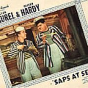 Saps At Sea, Us Lobbycard, From Left Poster