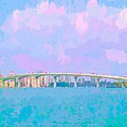 Sarasota Via Ringling Bridge Poster
