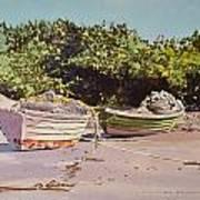 Sardine Dories On The Beach Poster