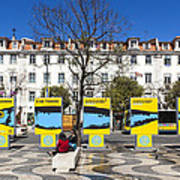 Sardine Outdoors At Rossio Square Poster