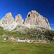 Sassolungo From Sella Pass Poster