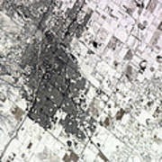 Satellite View Of Amarillo, Texas Poster