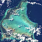 Satellite View Of Turks And Caicos Poster