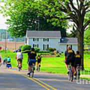 Saturday Bike Ride Poster by Tina M Wenger