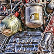 Saturn V J-2 Rocket Engine Poster