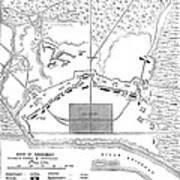 Savannah Siege Map, 1779 Poster