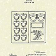 Savings Book 1926 Patent Art Poster