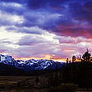 Sawtooth Sunset Panorama Poster