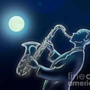 Sax-o-moon Poster