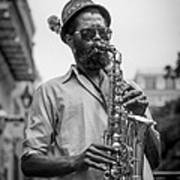 Saxophone Musician New Orleans Poster