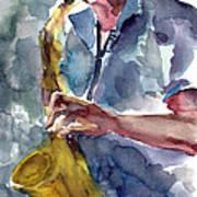 Saxophonist Poster