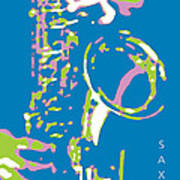 Saxy Blue Poster Poster