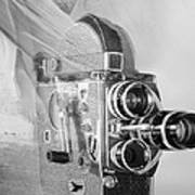 Scarf Camera In Black And White Poster