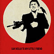 Scarface Poster Poster by Naxart Studio
