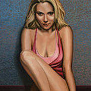 Scarlett Johansson Poster by Paul Meijering