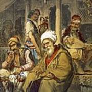Scene In A Cafe, 1865 Poster