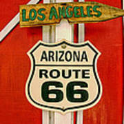 Scenes On Route 66 Poster