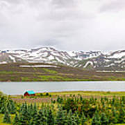 Scenic Landscape In Northern Iceland. Poster