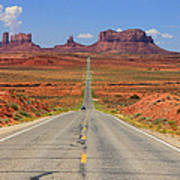 Scenic Road Into Monument Valley Poster