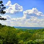 Scenic View Of So Mo Ozarks - Digital Paint Poster
