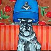 Schnauzer At The Salon Poster by Jay  Schmetz
