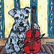 Schnauzer Playing Cello Poster by Jay  Schmetz