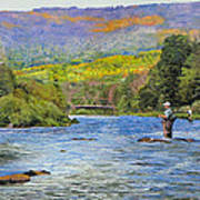 Schoharie Creek Poster by Kenneth Young