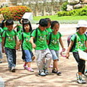 School Children In Gyeongju Korea Poster