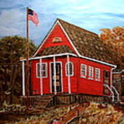 School House Poster by Kenneth LePoidevin