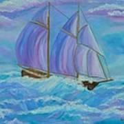 Schooner On The High Seas Poster