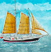 Schooner Spirit Of Independence Poster