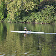 Schuylkill Rower Poster by Bill Cannon