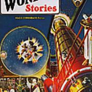 Sci-fi Magazine Cover, 1930 Poster