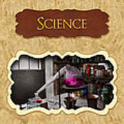 Science Button Poster by Mike Savad