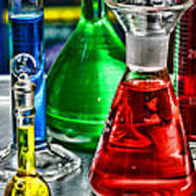 Science - Lab Glass Poster