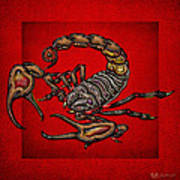 Scorpion On Red Poster