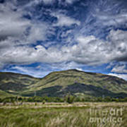 Scotland Loch Awe Mountain Landscape Poster