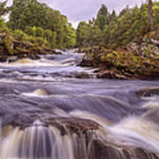 Scotland's Falls Of Dochart - Killin Scotland Poster