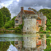 Scotney Castle Reflections Poster