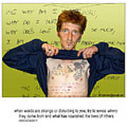 Scot's Poem Poster by Mike Hoyle
